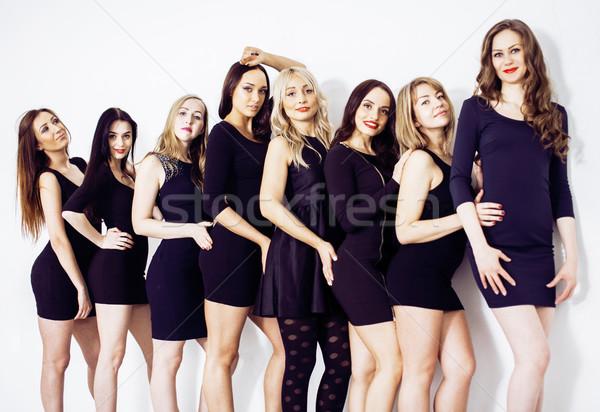 Muchos diverso mujeres línea pequeño Foto stock © iordani
