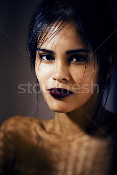 beauty latin young woman in depression, hopelessness look, fashi Stock photo © iordani