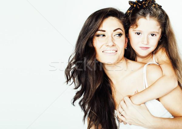 小さな 母親 2 子供 白 幸せ ストックフォト © iordani