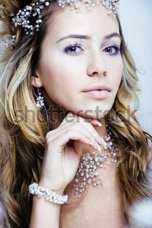 Bellezza ricca donna lusso gioielli Foto d'archivio © iordani