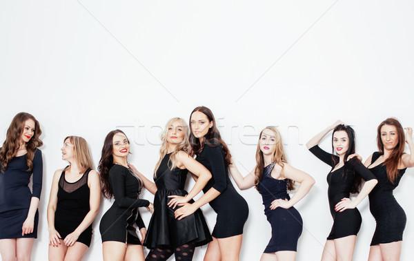 Grupy wiele cool nowoczesne dziewcząt znajomych Zdjęcia stock © iordani
