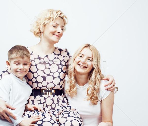 幸せ 笑みを浮かべて 家族 一緒に ポーズ ストックフォト © iordani