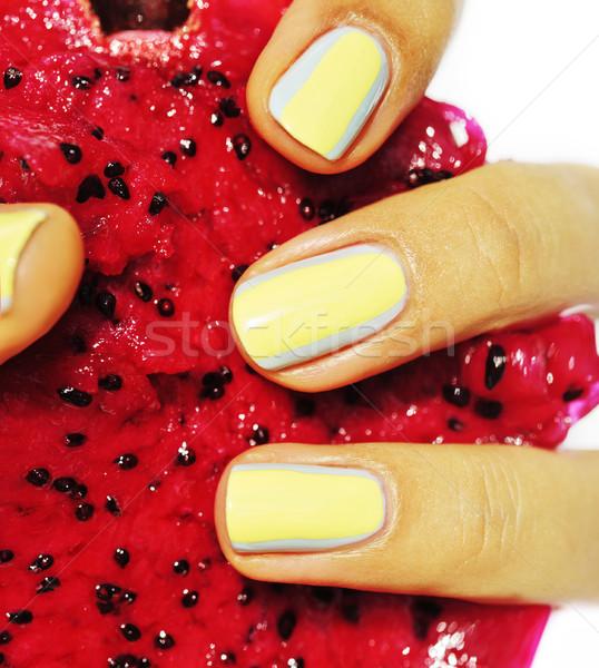 Criador projeto manicure unhas mão Foto stock © iordani