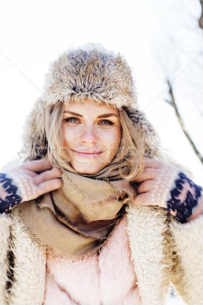 Сток-фото: молодые · довольно · девушки · Открытый