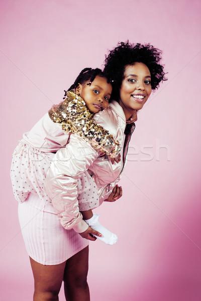Jungen ziemlich Mutter wenig cute Tochter Stock foto © iordani