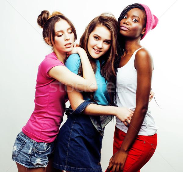 нация девочек группа друзей Сток-фото © iordani