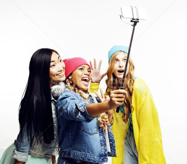 Natie meisjes groep vrienden Stockfoto © iordani