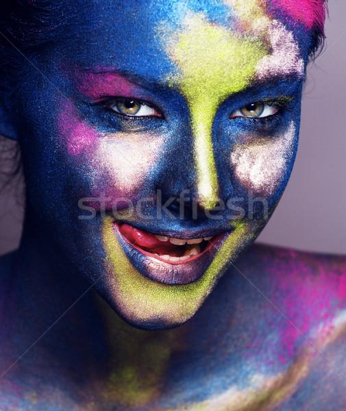 Bellezza donna creativo compongono come Foto d'archivio © iordani