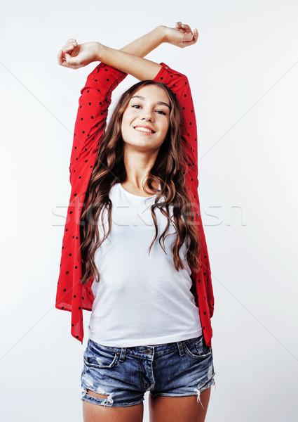 ストックフォト: 小さな · かなり · スタイリッシュ · ヒップスター · 少女 · ポーズ