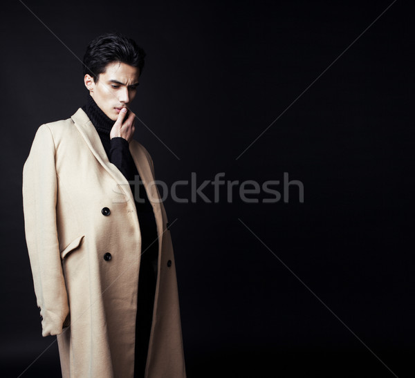 handsome fashion looking man posing in studio, lifestyle modern people concept Stock photo © iordani