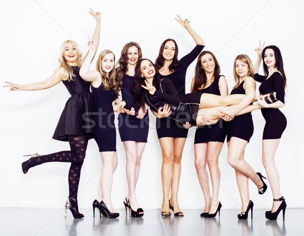 Сток-фото: многие · женщины · линия · мало