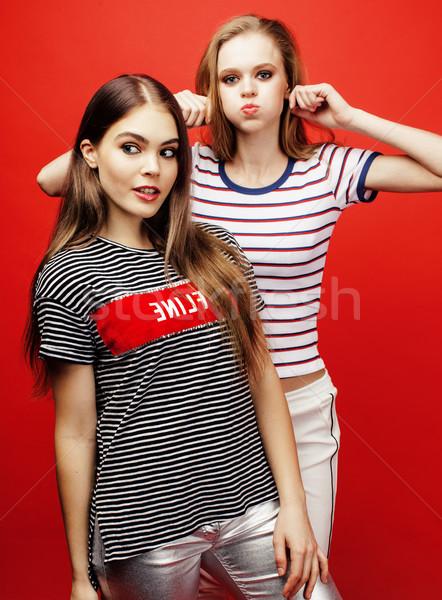 два Лучшие друзья вместе позируют Сток-фото © iordani
