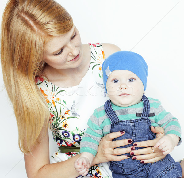 Jóvenes belleza madre cute bebé rojo Foto stock © iordani