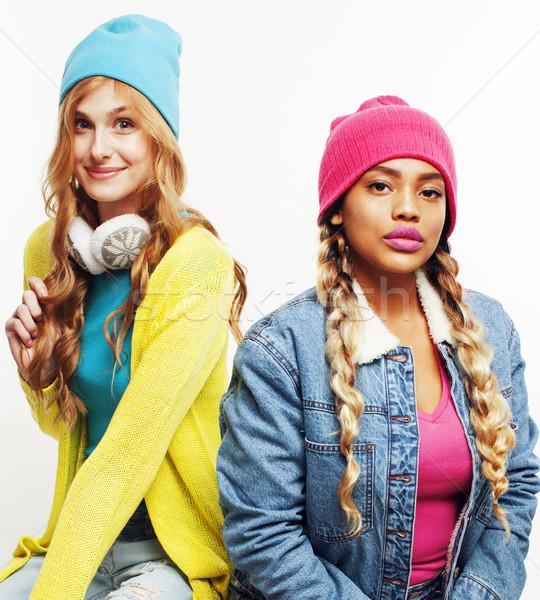 Natie meisjes groep twee Stockfoto © iordani