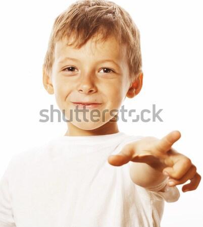 Pequeno bonitinho menino vazio merda Foto stock © iordani