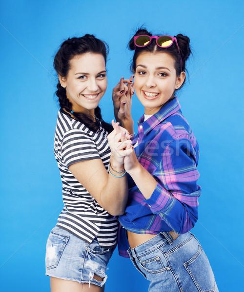 Лучшие друзья школы девочек вместе Сток-фото © iordani