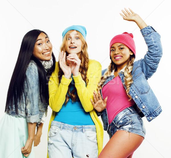 Diverso nação meninas grupo adolescente amigos Foto stock © iordani