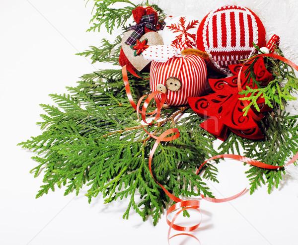 Natale decorazione isolato bianco post carta Foto d'archivio © iordani