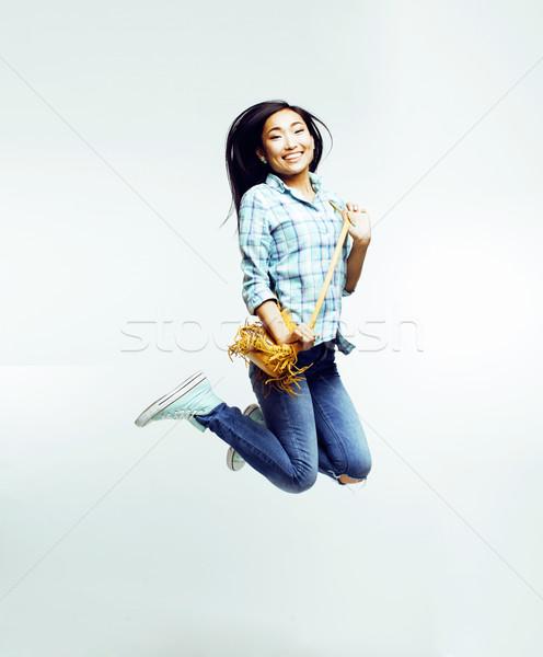 Giovani bella asian donna posa Foto d'archivio © iordani