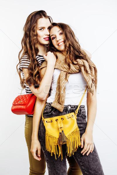 Dos mejores amigos junto posando Foto stock © iordani