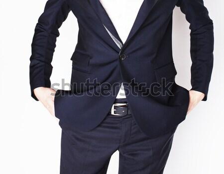 Test üzletember izolált fehér kezek nincs pénz Stock fotó © iordani