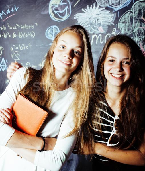 Okula geri yaz iki genç gerçek Stok fotoğraf © iordani