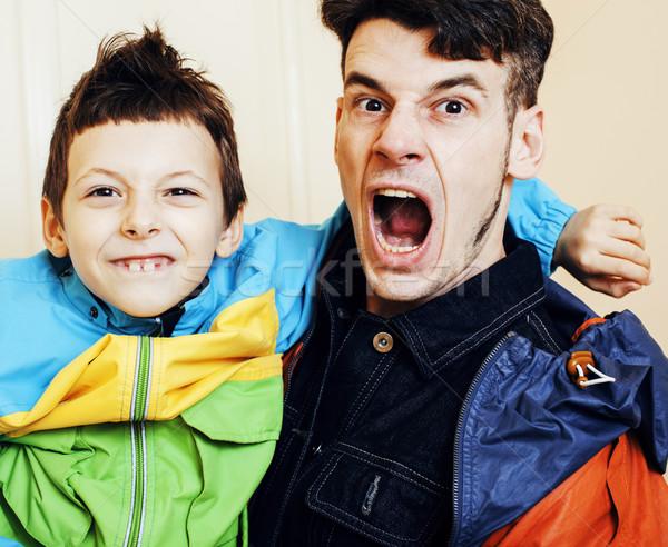 Сток-фото: мало · сын · отец · город · улыбаясь · случайный