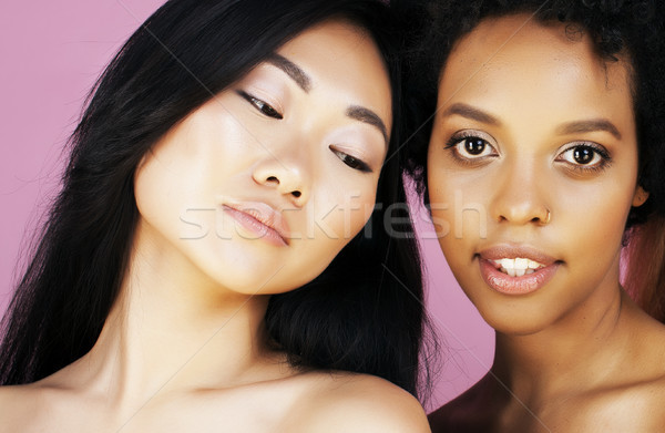 Différent nation femme asian ensemble Photo stock © iordani