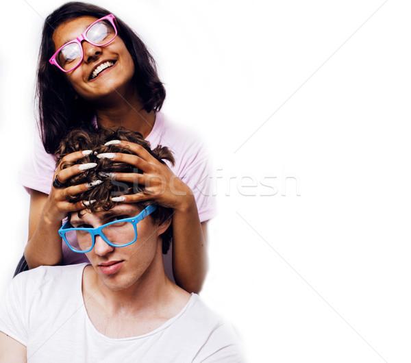 十代の少女 少年 一緒に ポーズ ストックフォト © iordani
