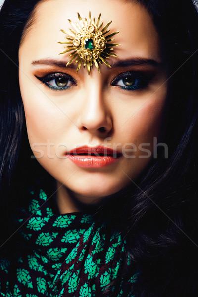 Güzellik doğu gerçek Müslüman kadın takı Stok fotoğraf © iordani