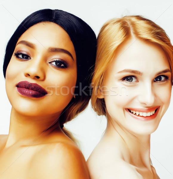 Différent nation femme ensemble isolé Photo stock © iordani