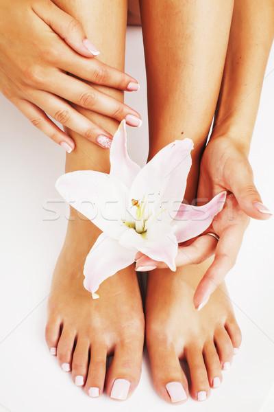 Photo stock: Manucure · pédicure · fleur · Lily · isolé