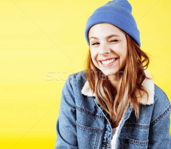 Yaşam tarzı insanlar güzel genç okul genç kız Stok fotoğraf © iordani