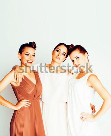 ストックフォト: ツリー · かなり · スタイリッシュ · 若い女性 · ヘアスタイル · 化粧