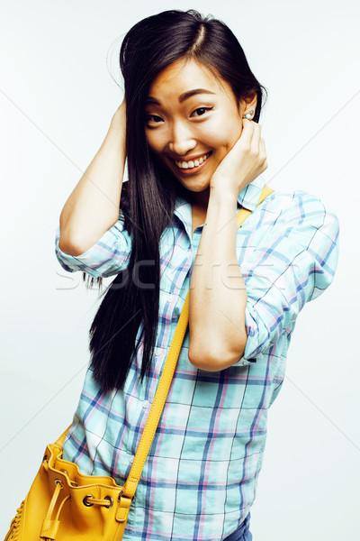 Stock fotó: Fiatal · csinos · ázsiai · nő · pózol · derűs