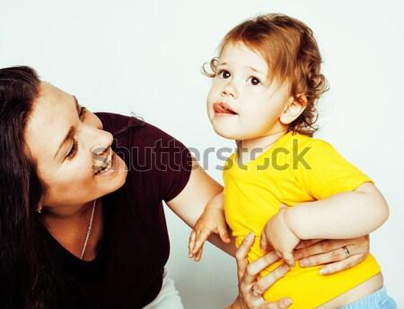 ярко фотография матери дочь счастливым Сток-фото © iordani