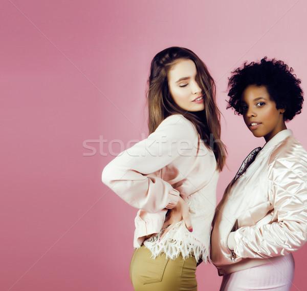 Verschillend natie meisjes huid haren asian Stockfoto © iordani