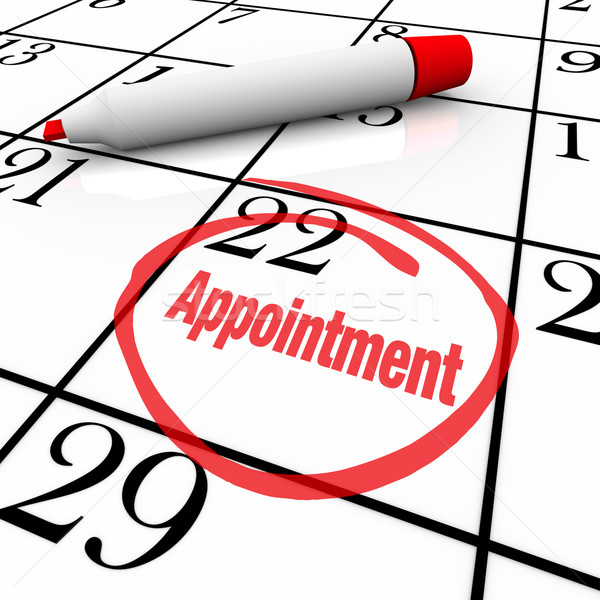 Calendar - Appointment Day Circled for Reminder Stock photo © iqoncept