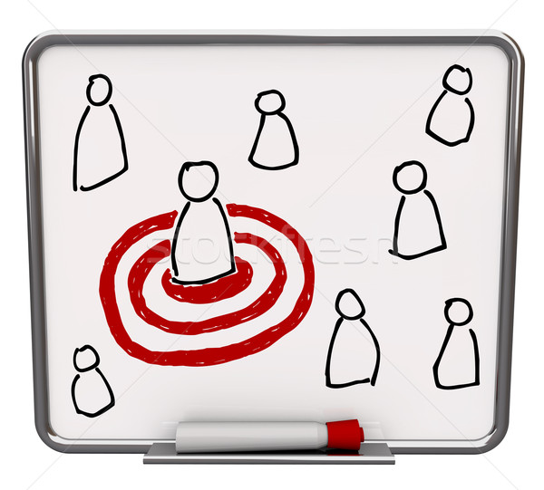 Targeted Person - Dry Erase Board with Red Marker Stock photo © iqoncept