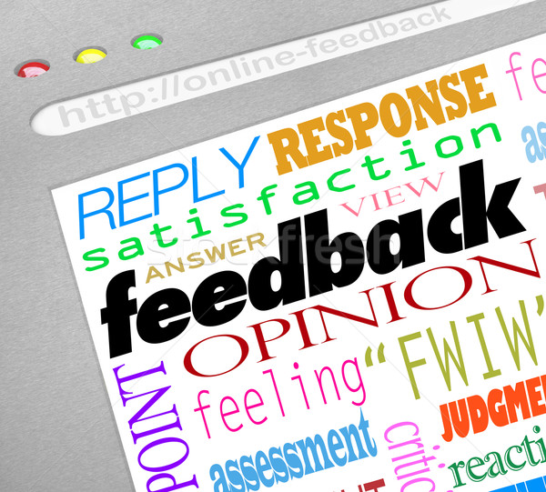 Feedback Online Survey Answers Opinions Stock photo © iqoncept