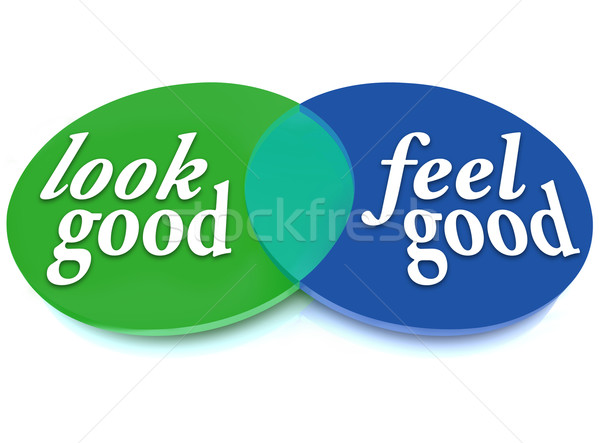 Look and Feel Good Venn Diagram Balance Appearance vs Health Stock photo © iqoncept