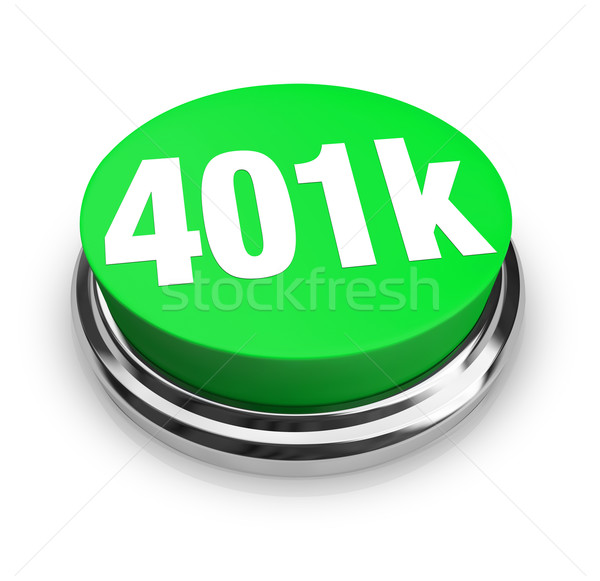401k - Green Button Stock photo © iqoncept