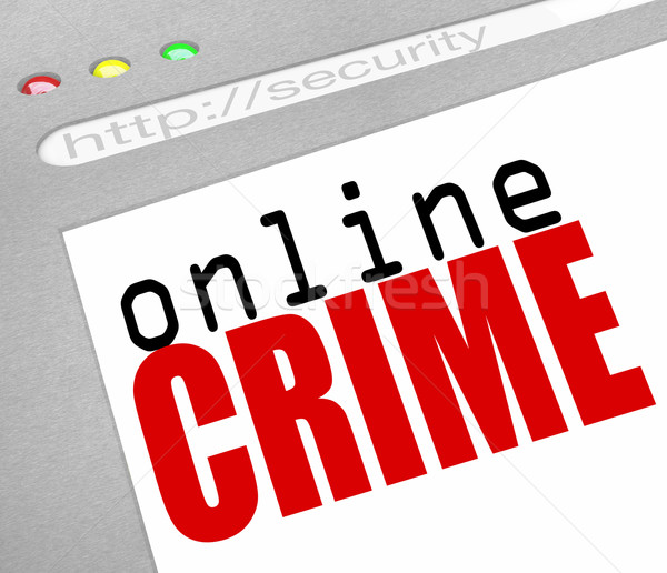 Online Crime - Web Screen and Text Stock photo © iqoncept