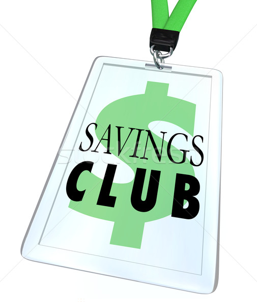 Savings Club Badge ID Card Special Discount Save More Stock photo © iqoncept
