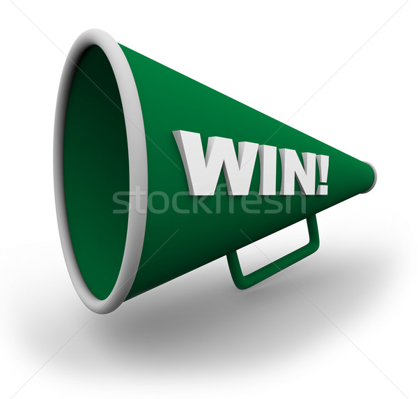 Bullhorn - Win Stock photo © iqoncept