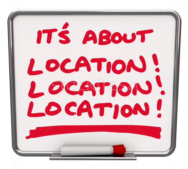 Its All About Location Destination Best Area Spot Place Stock photo © iqoncept