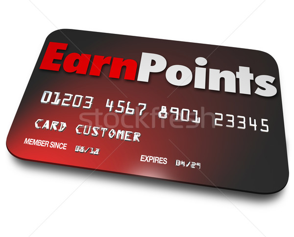 Earn Points Credit Card Rewards Program Best Choice Stock photo © iqoncept