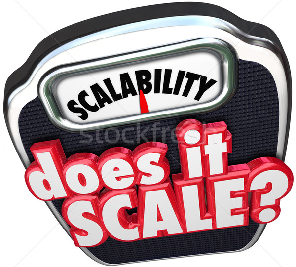 Scalability Does It Scale 3d Words Increase Size Scope Business Stock photo © iqoncept