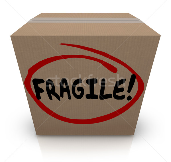 Fragile Word Written on Cardboard Box Packing Move Delicate Item Stock photo © iqoncept