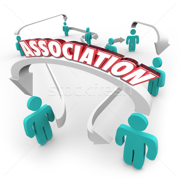 Association Word Connected People Arrows Group Club Organization Stock photo © iqoncept